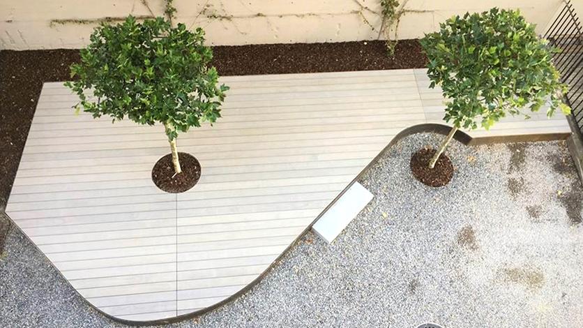 Accoya Holz Dach- und Gartenterrasse